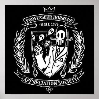 poster black PROFESSOR HORROR APRRECIATION SOCIE