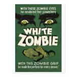 Poster blanco de la película del vintage del zombi