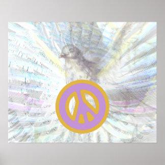 Poster blanco del deslumbramiento de las alas ange