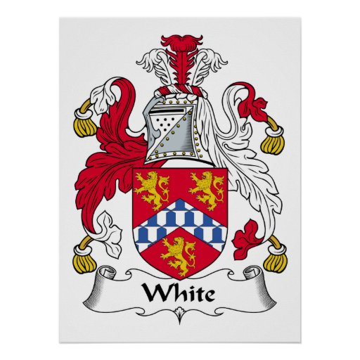 Poster blanco del escudo de la familia