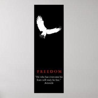 Poster blanco negro de la silueta de Eagle calvo