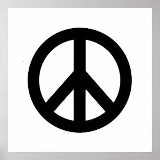 Poster blanco negro del símbolo del signo de la