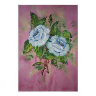 Poster Blue Roses
