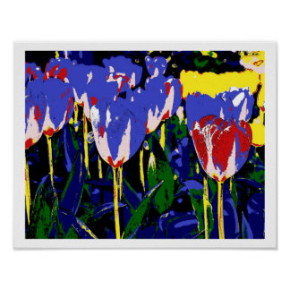Poster blue Tulips