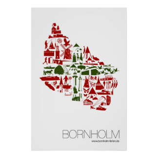 """Póster """"Bornholm logo"""" 60 x 90 cm Hochformat"""