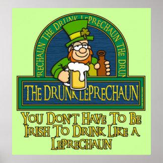 Poster borracho del Leprechaun