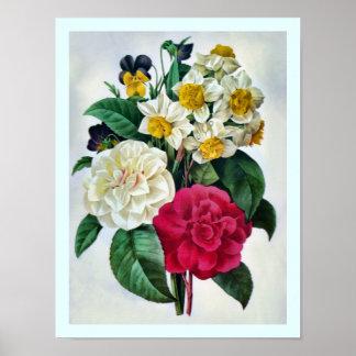 Poster botánico hermoso del ramo