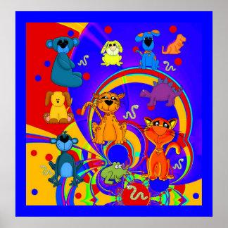 Poster Boys Kid's Animals Collage