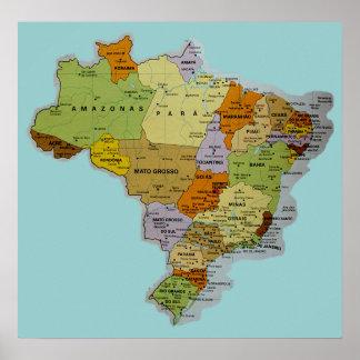 Poster brasileño del mapa