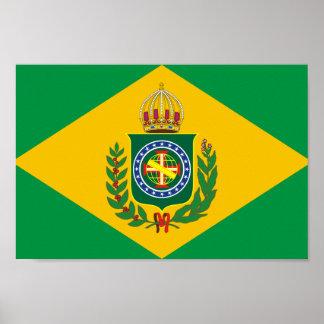 Poster brasileño viejo de la bandera