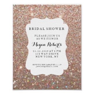 Poster - Bridal Shower Day Rose Gold