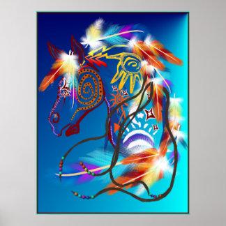 Poster brillante del caballo