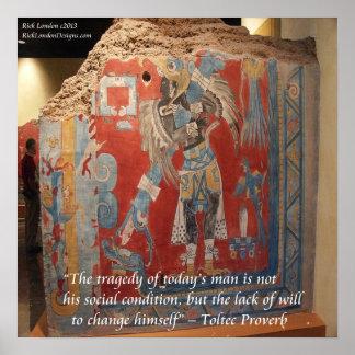 Poster brillante pintado del imperio W/Proverb de