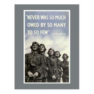 Poster británico de la guerra mundial 2 tarjetas postales