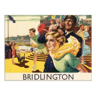 Poster BRITÁNICO de la playa de Bridlington de la Postal