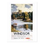 Poster británico de Thames del castillo de Windsor Postal