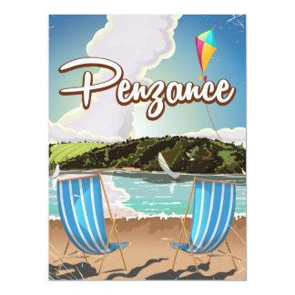 """Poster BRITÁNICO del viaje de la playa del vintage Invitación 6.5"""" X 8.75"""""""