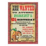 Poster Bucking de la fiesta de cumpleaños del vaqu Comunicado Personal