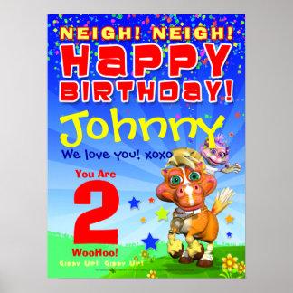 poster Bucky del cumpleaños de 18x24 GiggleBellie