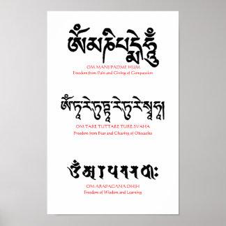 Poster budista del mantra