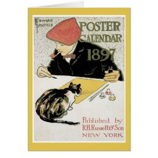 Poster Calendar note card