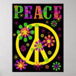 Poster caliente de la paz de los colores