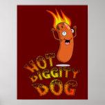Poster caliente del perro de Diggity