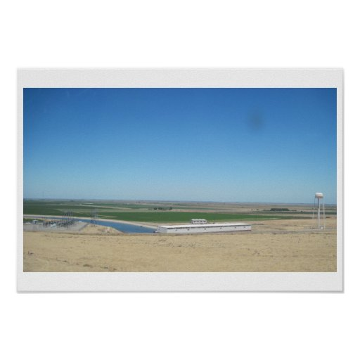 Poster: California Aqueduct As Seen from I-5 Poster