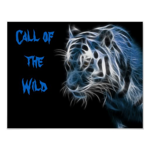 Poster: Call of the wild tiger poster