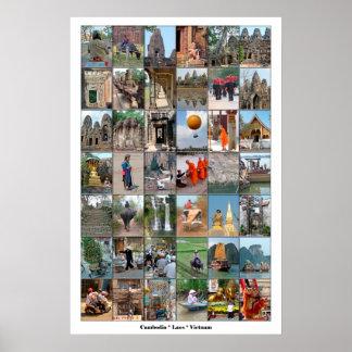 Poster - Camboya Laos Vietnam