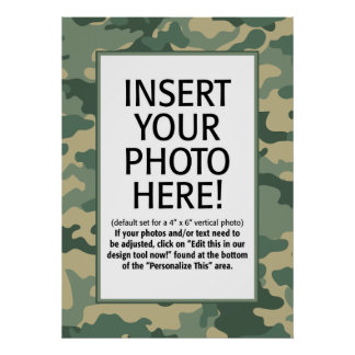 POSTER: camouflage border Poster
