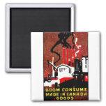 Poster canadiense de 1910 mercancías de la compra imanes de nevera