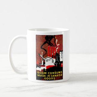 Poster canadiense de 1910 mercancías de la compra taza