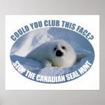 Poster canadiense de la caza del sello