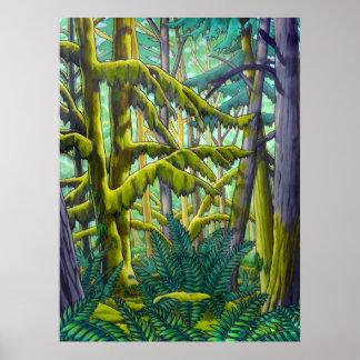 Poster canadiense de la pintura de paisaje de Kim Póster