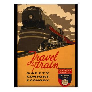 Poster canadiense del rastro del ferrocarril del v postales