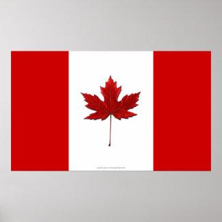 Poster canadiense único del arte de la bandera
