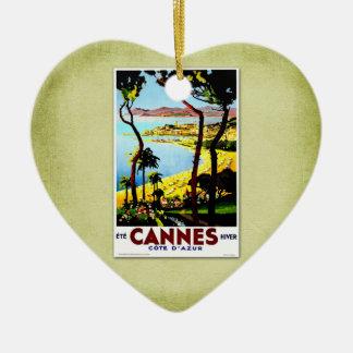 Poster Cannes Francia del vintage del viaje Adorno De Reyes
