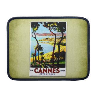 Poster Cannes Francia del vintage del viaje Fundas Macbook Air
