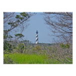 Poster Cape Hatteras Lighthouse from Wetlands