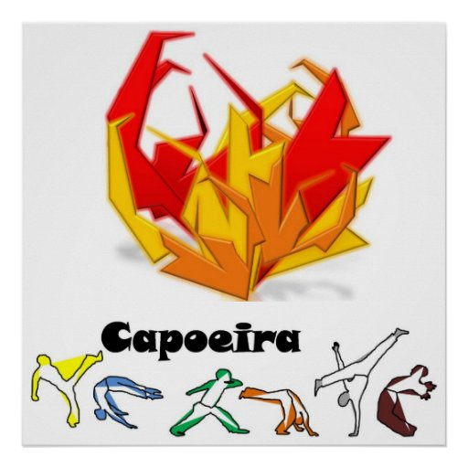 poster capoeira fogo axe