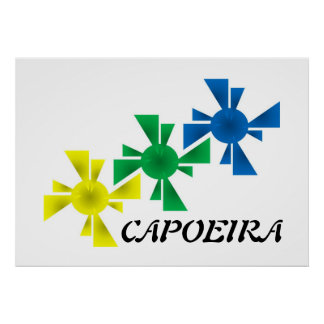 poster capoeira martial arts print