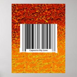 poster capoeira my love axe print bar code scan