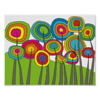 Poster caprichoso #7 del arte de la flor