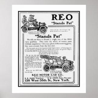 Poster Car REO Motor Ad 1906