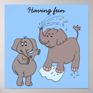"POSTER ""cartoon"" funny elephants"