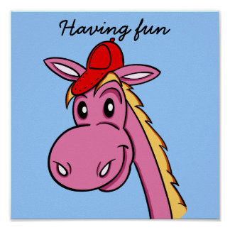 "POSTER ""cartoon"" funny horse"