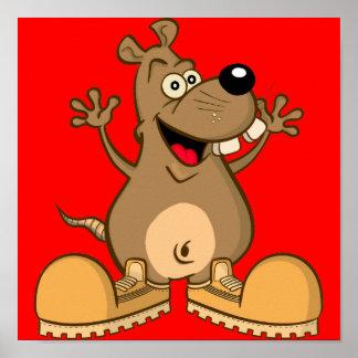 """POSTER """"cartoon"""" rodent"""