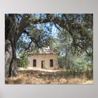 Poster: Casa abandonada en 46 W en Paso Robles Póster