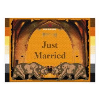 Poster casado californiano del orgullo del oso fotografía
